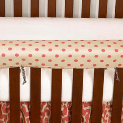 Cotton Tale Designs - Raspberry Dot Front Cover Up - A quality baby bedding set is essential in making your nursery warm and inviting. All Cotton Tale patterns are made using quality materials and are uniquely designed to create your perfect nursery. The Raspberry Dot front cover up is both function and design. What a great idea, this front rail cover up protects your foot board on the convertible cribs and it looks great. For the parent choosing not to use a bumper, it can add the needed decor lost when the bumper is removed. Cover ups can be used with a full bumper as well. All Cotton Tale and N. Selby patterns have matching crib rails cover ups. Wash gentle cycle, separate, cold water. Tumble dry low or hang dry. This collection is perfect for your little girl.