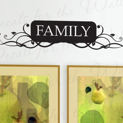 Decals for the Wall - Wall Decal Sticker Quote Vinyl Art Lettering Decorative Removable Family F06 - This decal says ''Family''