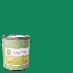 Inspired Semi-Gloss Interior Paint, Thrive .06, Gallon - Colorhouse paints are zero VOC, low-odor, Green Wise Gold certified and have superior coverage and durability. Our artist-crafted colors are designed to be easy backdrops for living. Colorhouse paints are 100% acrylic with no VOCs (volatile organic compounds), no toxic fumes/HAPs-free, no reproductive toxins, and no chemical solvents.