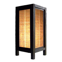 Oriental-Decor - Autumn Blind Lamp - The autumn blinds on this delightful lamp are reminiscent of the auburn and gold colors found in many temples in Asia. Place this special lamp anywhere in your home for superb decoration. Everything is included-a 110-volt electrical cord, socket and switch, and bulb. Some assembly required.