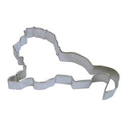 RM - Lion 4 In. B1217X - Lion cookie cutter, made of sturdy tin, Size 4 in., Depth 7/8 in., Color silver