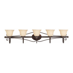 Triarch International - Triarch 25694 Jewelry Harvest Bronze 5 Light Vanity - Triarch 25694 Jewelry Harvest Bronze 5 Light Vanity