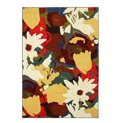"Karastan - Panache Summer Shake Creme Brulee Floral 2'4"" x 8'3"" Runner Karastan Rug - With ancient roots these wonderful pattern design couldn"