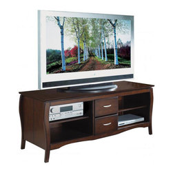 Office Star - Office Star 60 Inch Plasma LCD Walnut TV Stand - Office Star - TV Stands - TV0660FWA - This contemporary flat screen TV stand will be the foundation of your home theatre for years to come. The sturdy and durable wood construction is finished off with a sleek and attractive walnut finish. Bring this home and watch your favorite show in style!