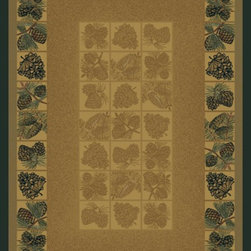 """United Weavers - Southwestern/Lodge Genesis 3'11""""x5'3"""" Rectangle natural Area Rug - The Genesis area rug Collection offers an affordable assortment of Southwestern/Lodge stylings. Genesis features a blend of natural natural color. Machine Made of Heatset Olefin the Genesis Collection is an intriguing compliment to any decor."""