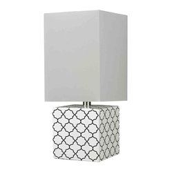 Dimond HGTV Home Gloss White and Black Table Lamp