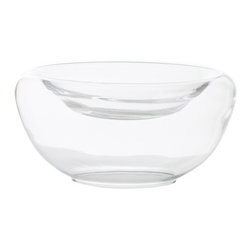 Arteriors - Delmonte Bowl, Large - This rounded shallow glass bowl is perfect for displaying treasures, small florals or candies for a dramatic centerpiece