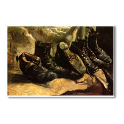 "PosterEnvy - Three Pair of Shoes 1886 - Vincent van Gogh - Art Print POSTER - 12"" x 18"" Three Pair of Shoes 1886 - Vincent van Gogh - Art Print Poster on heavy duty, durable 80lb Satin paper"