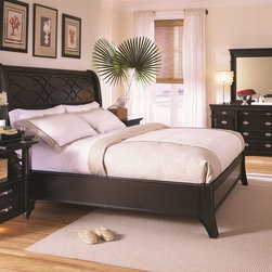 Aspenhome Furniture Young Classics Bedroom Collection - Aspenhome Young Classics Collection is inspired by the American Federal period and features many classical and familiar design details updated for the young or young at heart. Classic columns, carved c-scroll details, and Chippendale type fret work scaled up to meet the proportions of today's homes. Veneers are enhanced by a Cobblestone Black distressed finish providing an antique, aged look. Find the ideal pieces for your home's master bedroom, living room, home office, formal dining room, casual dining, and entertainment room with the Young Classics collection.