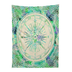 DENY Designs - DENY Designs Bianca Green Follow Your Own Path Mint Tapestry - The room accessory with so many uses it will have your head spinning! Dress up your wall, bed, chair or use it on the go for a picnic, day at the beach or on the lawn at that show you've been dying to see. However you use it, you'll be the talk of the town when you pair it with art from the DENY Art Gallery!