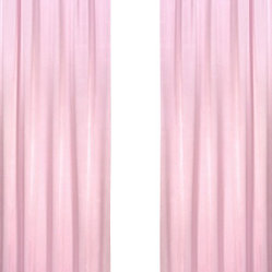 Sweet Jojo Designs - Chenille Pink Window Panels (Set of 2) - The Pink Chenille and Satin Window Curtain Panel Set will help complete the look of your Sweet Jojo Designs room. These window treatments instantly change the look and feel of any room, adding layers of warmth and style. Each panel measures 42in. X 84in.