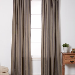 EZ Living Home - Gray Tonal Stripe Window Panels- Set of Two - These window panels feature a colorful twist on traditional zebra print to add-catching flair to décor, while back tab top construction makes for a smooth front-facing appearance.   Includes two panels 50'' W x 84'' H 100% cotton Machine wash Imported