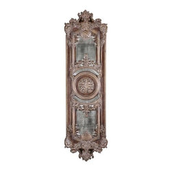 Uttermost - Uttermost 13529 P Domenica Distressed Heavily Decorated Mirror - Uttermost 13529 P Grace Feyock Domenica MirrorThis decorative wall decor features heavily antiqued mirrors accented by ornate framing finished in lightly distressed chestnut brown with a heavy gray glaze. May be hung horizontal or vertical.Features: