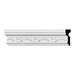 """Ekena Millwork - 4 1/2""""H x 1 1/2""""P x 94 3/8""""L (4 5/8"""" Repeat) Tristan Chair Rail - Our casing & chairrail collections offer stylings from traditional to victorian, from simple to ornate.  Each piece is modeled after historical designs and styles and are used in a variety of applications.  Chairrail is typically installed at chair height and looks great in almost any room.  Casing is primarily used around doors and windows.  And with our polyurethane material it can be used on the interior or exterior of your home."""