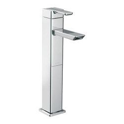 Moen - Moen 90 Degree Single Handle Lavatory Vessel Faucet, Chrome (S6711) - Moen S6711 90 Degree Single Handle Lavatory Vessel Faucet, Chrome