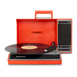 Crosley - Analog to Digital Spinnerette - Red - Preserving your vinyl collection to your computer is simply a click away. Easily take your favorite vinyl and convert them to digital files in just seconds. Simply plug in the USB cable, play your record and watch as the Spinnerette creates digital files on your computer. The Spinnerette interfaces with the USB port on any computer utilizing the supplied software- it's that easy.