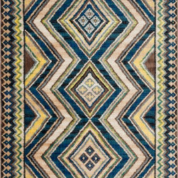 Loloi Rugs - Loloi Rugs Sierra Collection - Blue / Multi, 2' x 3' - Through fashionable and vibrant color combinations, the Sierra Collections takes a cosmopolitan look at south western inspired designs. The collection is power loomed in Egypt of 100% polypropylene for exceptional durability, color fastness, and stain resistance. Available in eight vibrant designs and five sizes.