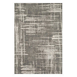 "Loloi Rugs - Loloi Rugs Discover Collection - Iron, 5' x 7'-6"" - Prized for its ribbed texture and incredibly soft microfiber polyester, the Discover Collection balances contemporarydesign with amazing comfort. The patterns enjoy an abstract modern art feel, adorned with a color palette of cool grays,beiges, and taupes for added versatility. Power loomed in China of 100% polyester for durability, color fastness, andstain resistance."