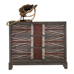 Silver Nest - American Arrow Chest - Celebrate America's roots and chivalrous style with the American Arrow Chest. Red and blue patterned three drawer chest.