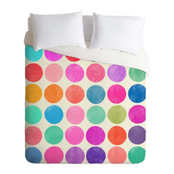 DENY Designs - Colorplay Duvet Cover, Lightweight, Twin - Turn your basic, boring down comforter into the super stylish focal point of your bedroom. Our Lightweight Duvet is made from an ultra soft, lightweight woven polyester, ivory-colored top with a 100% polyester, ivory-colored bottom. They include a hidden zipper with interior corner ties to secure your comforter. It is comfy, fade-resistant, machine washable and custom printed for each and every customer. If you're looking for a heavier duvet option, be sure to check out our Luxe Duvets!