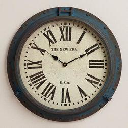 Blue Xander Porthole Wall Clock -