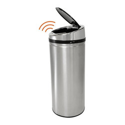 "iTouchless - iTouchless IT13RCB Trashcan NX Stainless Steel 11 gal. Trash Can Multicolor - IT - Shop for Trash Receptacles from Hayneedle.com! Keep your kitchen clean and your hands cleaner with the iTouchless IT13RCB Trashcan NX Stainless Steel 11 Gallon Trash Can. This 100% touch-free trash can creates a germ-free odor-free automated environment as the Smart-Chip III opens the lid when it detects movement within 6 inches. Besides the liquid-proof sensor there are also manual open/close buttons. The NX trash can is constructed from durable stainless steel with a brushed silver finish. Its removable top cover allows for easy cleaning. It also helps prevent contamination which reduces the threat of certain illnesses and infections. Even better your kids will have the enjoyment of throwing the trash away into the ""magically"" opening container. Other features include a strengthened lid hinge and a trash bag retainer ring. Uses 4 D-size batteries (not included) with an optional AC power adapter. Dimensions: 12.75L x 12.25W x 30.38H inches.About iTouchlessiTouchless Housewares & Products creator of the Touchless Trashcan EZ Faucet and Towel-Matic manufactures and distributes a line of innovative products for your home and office. Their mission: to make people's lives a little easier by using their products. Over the last 15 years iTouchless has established a solid foundation and assembled multiple factories in Asia to support the increasing demand of sensor-activated products. Their vision for the future is to create a continuous stream of customer-driven innovations while selecting strategic partners and distributors to form mutually beneficial relationships."