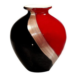 Dale Tiffany - New Dale Tiffany Vase Glass Hand-Blown Urn - Product Details