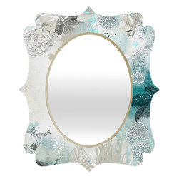 DENY Designs - Iveta Abolina Seafoam Quatrefoil Mirror - Mirror, mirror on the wall. Who's the fairest one of all? We'll that's easy, the quatrefoil mirror collection, of course! With a sleek mix of baltic birch ply trim that's unique to each piece and a glossy aluminum frame, the rectangular mirror makes you feel oh so pretty every time you catch a glimpse. Custom made in the USA for every order.