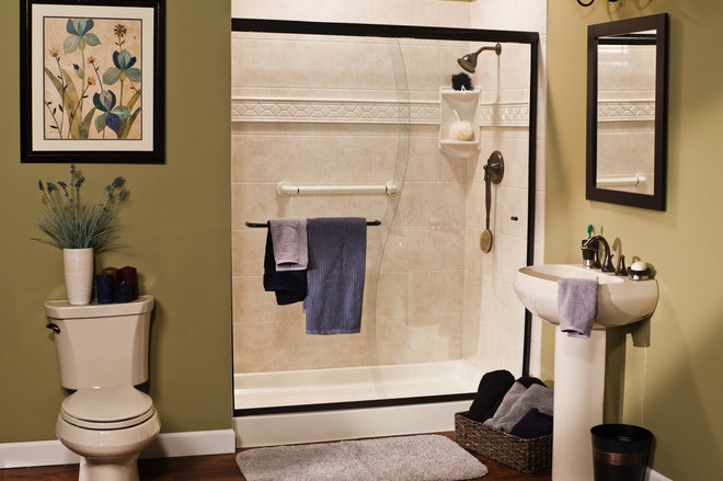 Contemporary Showers by Improveit! Home Remodeling