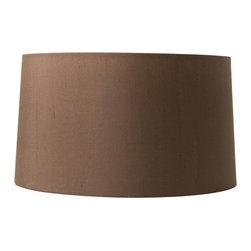 """Worlds Away - Worlds Away 17"""" Diameter Chocolate Silk Shade LS-BRN17 - 17"""" diameter chocolate silk shade"""