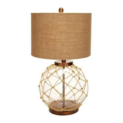 "Benzara - Beautiful Modern Glass Metal Table Lamp with Lavish in Design - Beautiful Modern Glass Metal Table Lamp with Lavish in Design. Extravagant in design, this glass metal table lamp is sure to add grandeur to your living space. It comes with following dimensions 6""W x 6""D x 30""H."