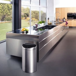 Brabantia Fingerprint Proof Matte Stainless Steel 11 Gallon Trash Can - About Brabantia Kitchen and HousewaresBrabantia products are designed for today, but with a strong nod to the future. With a wide line of laundry bags, stainless steel garbage cans, trash cans, ironing boards, and so much more, Brabantia is a company you can rely on for quality.