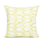 Pastel Green/White Throw Pillow Cover by BH Decor - Made from certified organic cotton fabric, this cushion cover from BH Decor is as environmentally friendly as it is pretty. It's perfect for adding a gentle bit of pattern to your space.