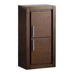 Fresca - Fresca FST8140WG Wenge Brown Bathroom Linen Side Cabinet With 2 Doors - Fresca FST8140WG Wenge Brown Bathroom Linen Side Cabinet With 2 Doors