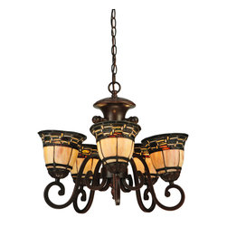 "Meyda Lighting - Meyda Lighting 125117 20""W Ilona 5 Arm Chandelier - Meyda Lighting 125117 20""W Ilona 5 Arm Chandelier"