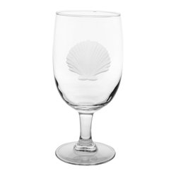 Rolf Glass - Seashell Iced Tea Glass 16oz, Set of 4 - Whether it's black, green or a tropical blend, these iced tea glasses crafted from cut glass hold just enough to quench any thirst. An iconic scallop-shell engraving will make you swear you're at the beach; listen: is that the ocean?