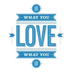 RoomMates - 55 Hi's - Do What You Love Peel & Stick Giant Wall Decals - Do what you love and love what you do. This motivational quote from designer 55 Hi's encourages you to be creative and pursue your passions. Like all of our quote wall decals, this design is as easy to apply as peel and stick. The decals adhere to any smooth surface, and can be removed, repositioned, and re-applied at any time without residue or damage. Put them up in your working space, studio, apartment, or wherever you'll benefit from having this reminder!