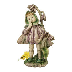 Design Toscano - Design Toscano Ella the Littlest Flower Fairy Statue - QL32142 - Shop for Statues and Sculptures from Hayneedle.com! Fairies can be hard to catch but you can have one in your garden with the Design Toscano Ella the Littlest Flower Fairy Statue. Quality designer resin construction makes this piece a lasting addition to your home or garden. Hand-painted in softly muted tones the magic and beauty of this dainty fairy is captured perfectly. This charming fairy figurine with petal gown and delicate wings is suitable for outdoor use.About Design ToscanoDesign Toscano is the country's premier source for statues and other historical and antique replicas which are available through the company's catalog and website. Design Toscano's founders Michael and Marilyn Stopka created Design Toscano in 1990. While on a trip to Paris the Stopkas first saw the marvelous carvings of gargoyles and water spouts at the Notre Dame Cathedral. Inspired by the beauty and mystery of these pieces they decided to introduce the world of medieval gargoyles to America in 1993. On a later trip to Albi France the Stopkas had the pleasure of being exposed to the world of Jacquard tapestries that they added quickly to the growing catalog. Since then the company's product line has grown to include Egyptian Medieval and other period pieces that are now among the current favorites of Design Toscano customers along with an extensive collection of garden fountains statuary authentic canvas replicas of oil painting masterpieces and other antique art reproductions. At Design Toscano attention to detail is important. Travel directly to the source for all historical replicas ensures brilliant design.
