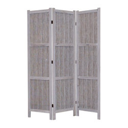 Screen Gems - Terrance Screen - Three panels. Wooden mat outdoor screen. Finished on both sides. Can be used at both indoor and outdoor. 48 in. W x 67 in. H (25 lbs.)