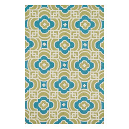 """Loloi Rugs - Loloi Rugs Francesca Collection - Lime / Blue, 5' x 7'-6"""" - If your lifestyle is fresh, spirited and informal, the intricately hand-hooked Francesca Collection is for you. These richly textured designs range from boldly scaled florals and architectural gate patterns to geometric chevron stripes and pretty paisleys. Crafted to reflect your personal style, each Francesca rug is made in China of 100-percent polyester with fibers that are stain- and moisture-resistant. That means colors will remain vibrant today and tomorrow, whether you place your rug in asunroom, kitchen, family room or foyer."""