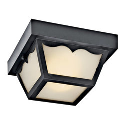 Kichler - Kichler No Family Association Outdoor Lighting Fixture - Shown in picture: Kichler Outdoor Flush Mt 2-Light Fluorescent in Black (Painted)