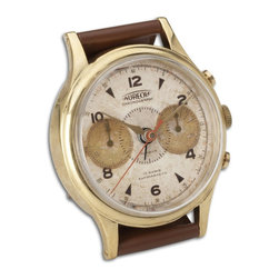 Uttermost - Uttermost Wristwatch Alarm Round Aureole 06072 - Brass rim with leather stand. Requires 1-AA battery.