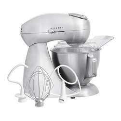 Hamilton Beach - Hamilton Beach - Eclectrics All-Metal Stand M - All metal. Professional 2-way rotating mixing action. 400 watt motor. High performance electronics. 12 settings. Tilt-up head and locking bowl. 2 piece pouring shield. Flat beater. Dough hook. Wire whisk