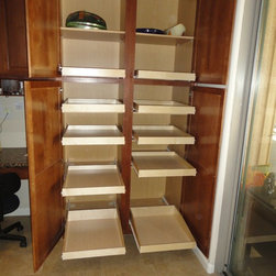 Slide Out Shelves LLC - Pantry Pull Out Shelves by slideoutshelvesllc.com - Pantry pull out shelves allow accessing and organizing your kitchen pantry shelves easier