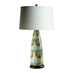 Alexandra Lamp - This lamp will NOT light things up and fade into the background; its vibrant pattern adds a Dorothy Draper-esque bit of fun to any room in the house.