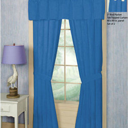 Patch Quilts - Patch Magic Sky Blue Window Curtain 40 x 80 - - Home Spun, yarn dyed fabric curtains.Window treatments complements the Patch Magic Quilt line and bedroom decor  Machine washable. Line or Flat dry only  - Finish/Color: Multiple Color  - Product Depth: 40  - Product Width: 40  - Product Height: 80  - Material: 100% Cotton Fabric Patch Quilts - CWS215B