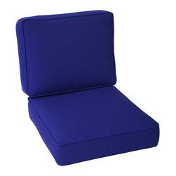 Trijaya Living - Sunbrella Outdoor Universal Patio Furniture Club Chair Cushions, True Blue - Sunbrella Outdoor Universal Patio Furniture Club Chair Cushions