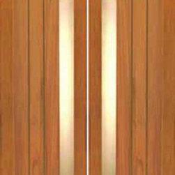 """Double Door, Contemporary Grooved Panel with Insulated Matte Glass - SKU#R-13_2BrandAAWDoor TypeExteriorManufacturer CollectionRetro DoorsDoor ModelDoor MaterialWoodWoodgrainTropical HardwoodVeneerPrice1880Door Size Options2(30"""") x 80"""" (5'-0"""" x 6'-8"""")  $02(32"""") x 80"""" (5'-4"""" x 6'-8"""")  $02(36"""") x 80"""" (6'-0"""" x 6'-8"""")  +$202(42"""") x 80"""" (7'-0"""" x 6'-8"""")  +$4202(24"""") x 96"""" (4'-0"""" x 8'-0"""")  +$6602(32"""") x 96"""" (5'-4"""" x 8'-0"""")  +$6602(36"""") x 96"""" (6'-0"""" x 8'-0"""")  +$7002(42"""") x 96"""" (7'-0"""" x 8'-0"""")  +$1100Core TypeSolidDoor StyleModernDoor Lite StyleFull Lite , 1 LiteDoor Panel StyleFlush PanelHome Style MatchingContemporaryDoor ConstructionTrue Stile and RailPrehanging OptionsPrehung , SlabPrehung ConfigurationDouble DoorDoor Thickness (Inches)1.75Glass Thickness (Inches)3/4Glass TypeDouble GlazedGlass CamingGlass FeaturesTempered , InsulatedGlass StyleGlass TextureMatteGlass ObscurityDoor FeaturesDoor ApprovalsDoor FinishesDoor AccessoriesWeight (lbs)680Crating Size25"""" (w)x 108"""" (l)x 52"""" (h)Lead TimeSlab Doors: 7 daysPrehung:14 daysPrefinished, PreHung:21 daysWarranty1 Year Limited Manufacturer WarrantyHere you can download warranty PDF document."""