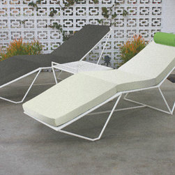 Series 9 Chaise - Our flagship chaise has a sophisticated, contemporary stance that belies an incredibly comfortable recline and makes poolside, yard, or balcony especially relaxing. Alone or matched in pairs with our Series 9 Side Table this iconic piece is an asset to any setting and will remain so for generations.