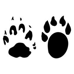 Stencil Ease - Marten Animal Tracks Stencil - Marten Animal Tracks Stencil - BASIC Stencils Collection